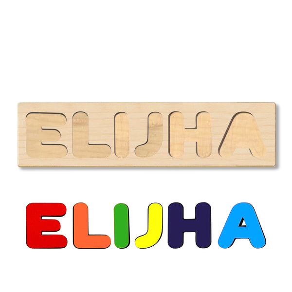 Wooden Name Puzzle Personalized Puzzle Choose Up to 12 Letters. Monkey And Panda In Hot Air Balloon Theme