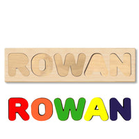 Wooden Name Puzzle Personalized Puzzle Choose Up to 12 Letters. Elephant With Rabbit And Stars Theme
