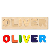 Wooden Personalized Name Puzzle - Any Name Or First & Last Name Choose up to 12 Letters No Extra Cost - MADISON