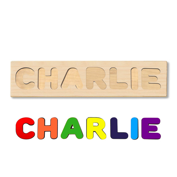Wooden Personalized Name Puzzle - Any Name Or First & Last Name Choose up to 12 Letters No Extra Cost - CHARLIE