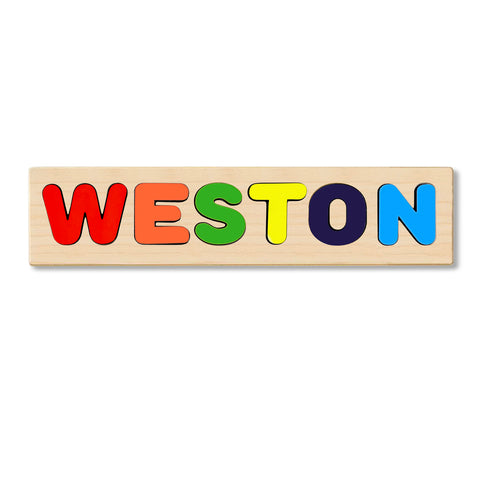 Wooden Personalized Name Puzzle - Any Name Or First & Last Name Choose up to 12 Letters No Extra Cost - WESTON