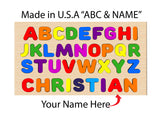 Name Puzzle With ABC Full Board & Your Name - Made In U.S.A - Large Board