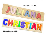 Personalized Name Puzzle For Toddlers Kids Babies ages for 1 2 3 4 5 years old Choose up to 12 Letters