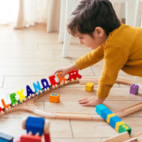 5 Letter Train Wooden Perosnalized Name Letters Includes Train & Wagon Letters Puzzle Includes Train & Wagon Free