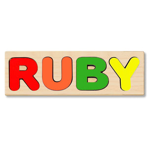 Wooden Personalized Name Puzzle - Any Name Or First & Last Name Choose up to 12 Letters No Extra Cost - RUBY