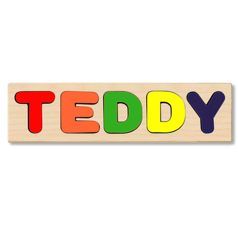 Wooden Personalized Name Puzzle - Any Name Or First & Last Name Choose up to 12 Letters No Extra Cost - TEDDY