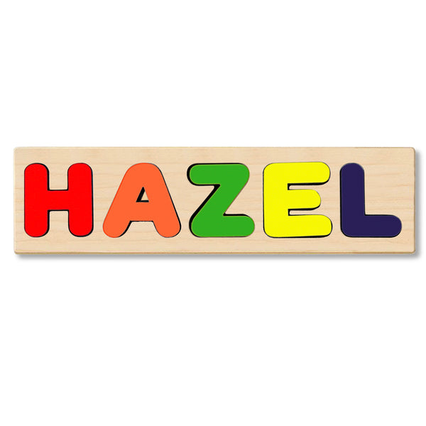 Wooden Name Puzzle Personalized Puzzle Choose Up to 12 Letters. Cute Monkey Theme