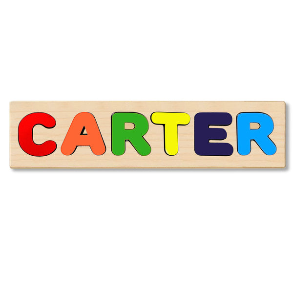 Wooden Personalized Name Puzzle - Any Name Or First & Last Name Choose up to 12 Letters No Extra Cost - CARTER