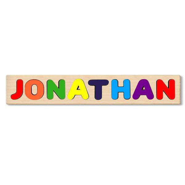 Wooden Personalized Name Puzzle - Any Name Or First & Last Name Choose up to 12 Letters No Extra Cost - JONATHAN
