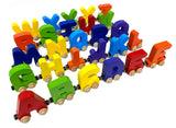 9 Letter Train Wooden Perosnalized Name Letters Includes Train & Wagon Letters Puzzle Includes Train & Wagon Free
