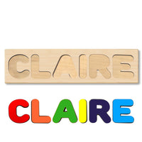 Wooden Name Puzzle Personalized Puzzle Choose Up to 12 Letters. Ballerina With Crown Theme