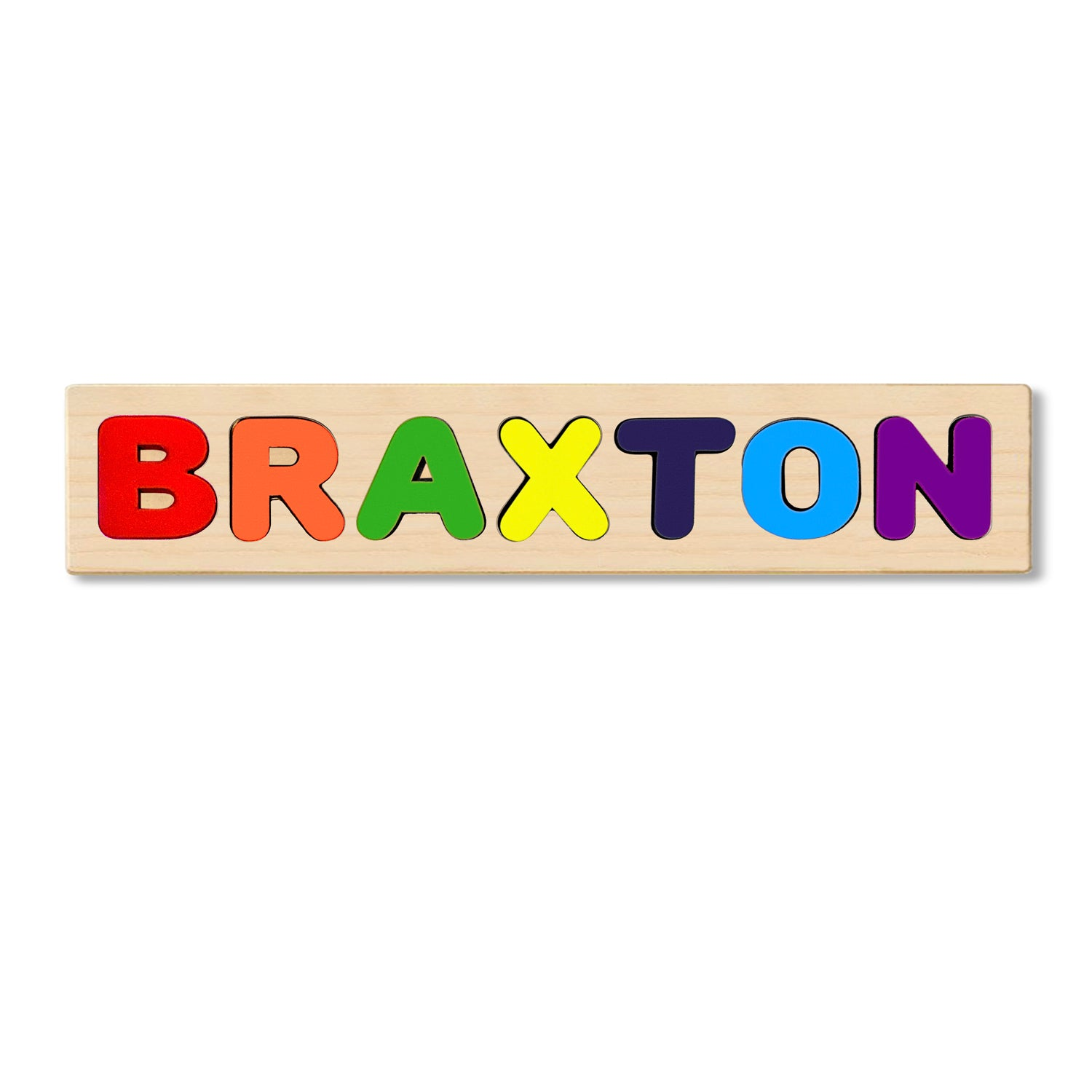 Wooden Personalized Name Puzzle - Any Name Or First & Last Name Choose up to 12 Letters No Extra Cost - BRAXTON