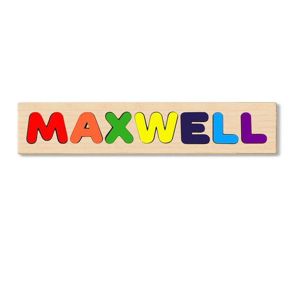 Wooden Personalized Name Puzzle - Any Name Or First & Last Name Choose up to 12 Letters No Extra Cost - MAXWELL