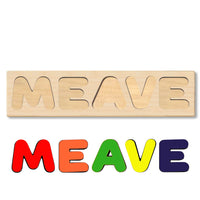 Wooden Name Puzzle Personalized Puzzle Choose Up to 12 Letters. Cute Baby Unicorn Theme