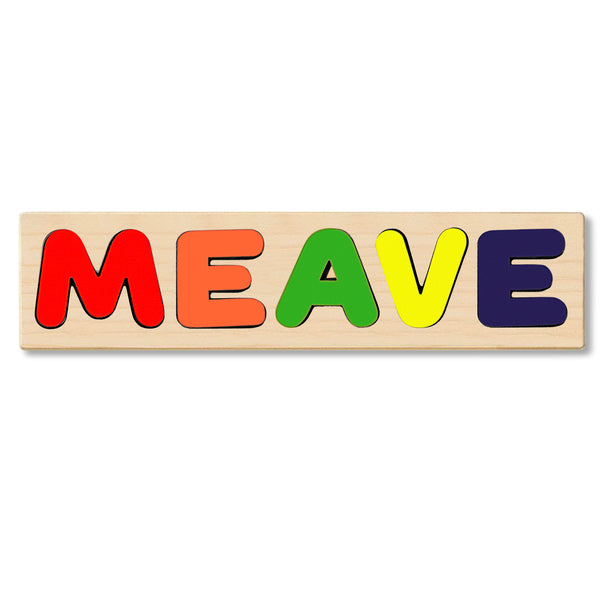 Wooden Personalized Name Puzzle - Any Name Or First & Last Name Choose up to 12 Letters No Extra Cost - MAEVE