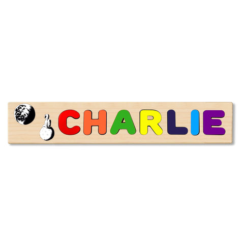 Wooden Name Puzzle Personalized Puzzle Choose Up to 12 Letters. Austronutsitting Onmoon Theme