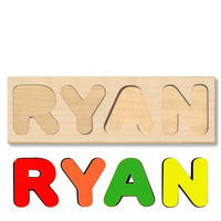 Wooden Name Puzzle Personalized Puzzle Choose Up to 12 Letters. Sand Loaded Truck Theme