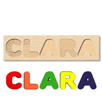 Wooden Name Puzzle Personalized Puzzle Choose Upto 12 Letters. Baby Dog In Gift Theme