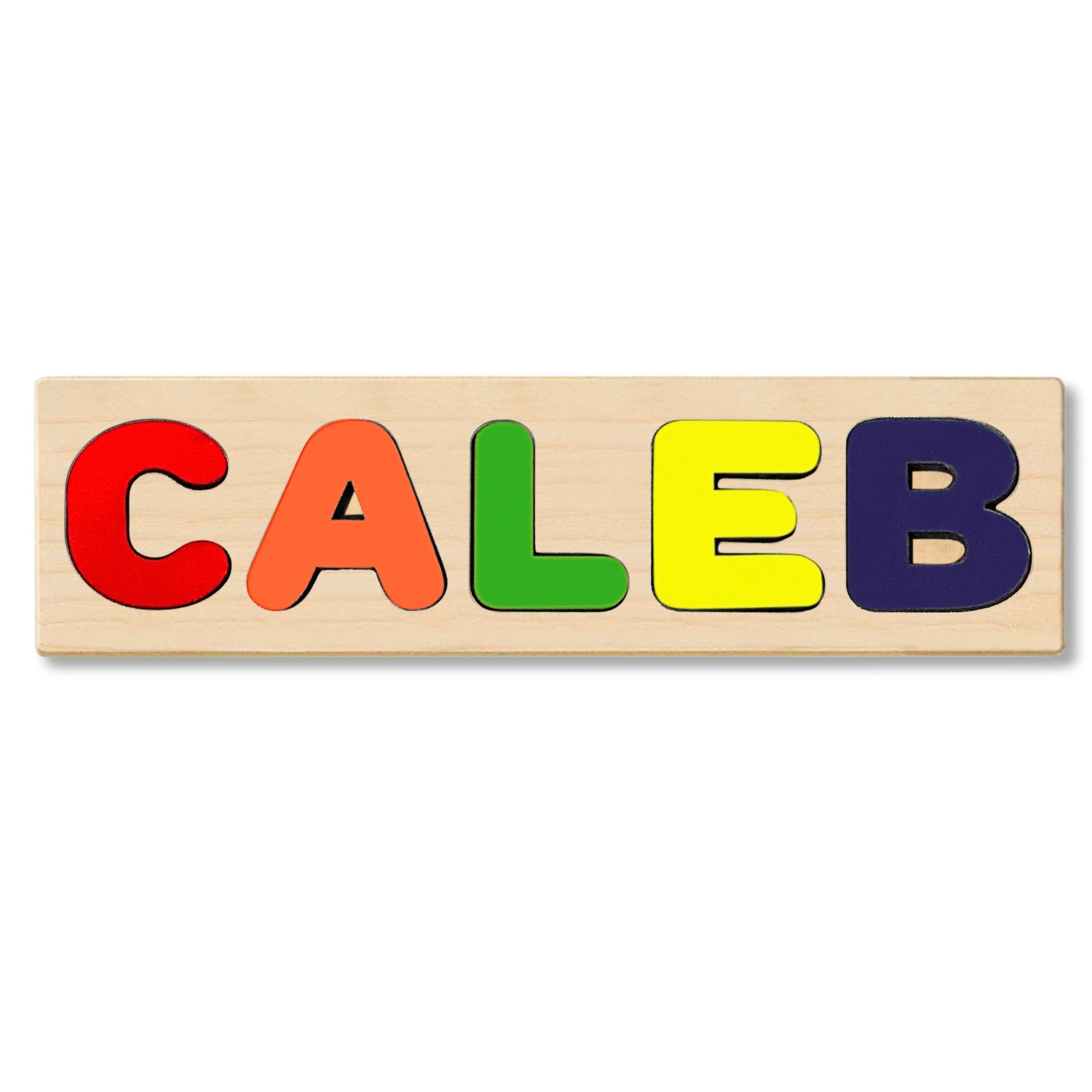 Wooden Personalized Name Puzzle - Any Name Or First & Last Name Choose up to 12 Letters No Extra Cost - CALEB