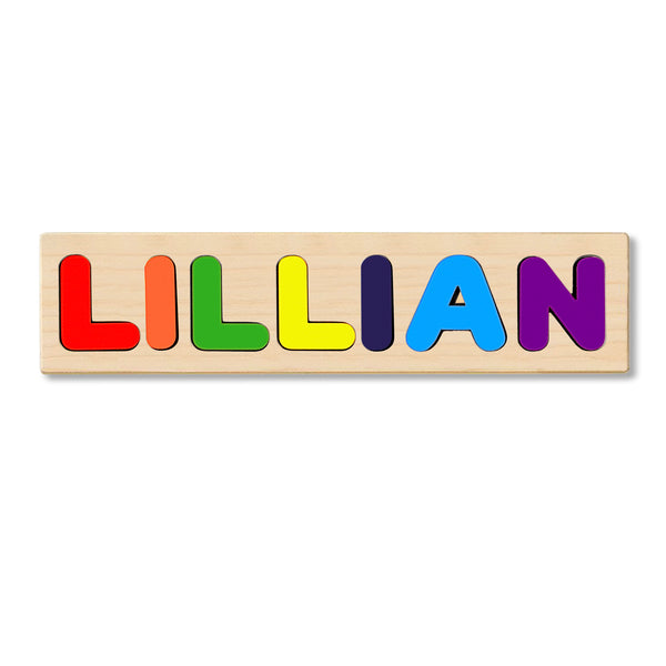 Wooden Personalized Name Puzzle - Any Name Or First & Last Name Choose up to 12 Letters No Extra Cost - LILLIAN