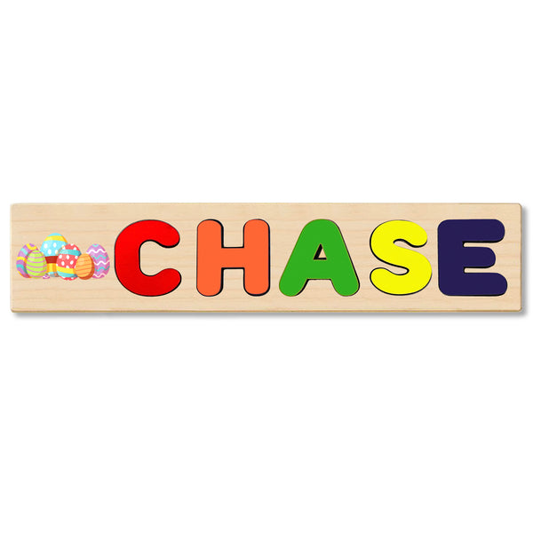 Wooden Name Puzzle Personalized Puzzle Choose Up to 12 Letters. Group Of Eggs Theme