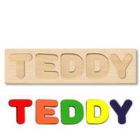 Wooden Name Puzzle Personalized Puzzle Choose Up to 12 Letters. Animal With Birthday Gifts Theme