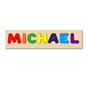 Wooden Personalized Name Puzzle - Any Name Or First & Last Name Choose up to 12 Letters No Extra Cost - MICHAEL
