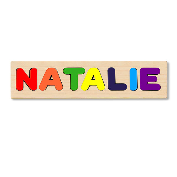 Wooden Personalized Name Puzzle - Any Name Or First & Last Name Choose up to 12 Letters No Extra Cost - NATALIE