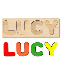 Wooden Personalized Name Puzzle - Any Name Or First & Last Name Choose up to 12 Letters No Extra Cost - LUCY