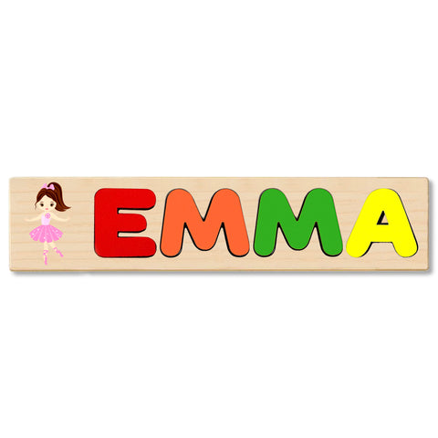 Wooden Name Puzzle Personalized Puzzle Choose Up to 12 Letters. Ballerina 2 Theme