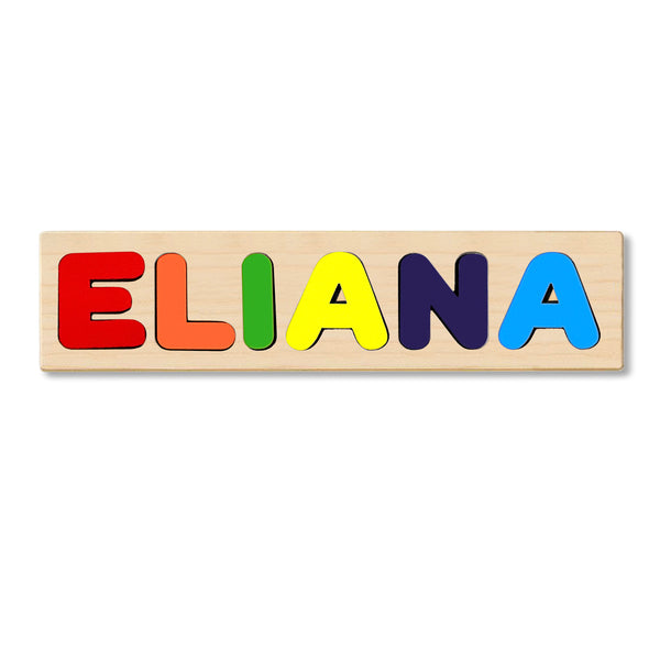 Wooden Name Puzzle Personalized Puzzle Choose Up to 12 Letters. Cute Teddy Bear With Heart Theme