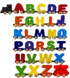 6 Letter Train Wooden Perosnalized Name Letters Includes Train & Wagon Letters Puzzle Includes Train & Wagon Free