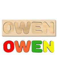 Wooden Personalized Name Puzzle - Any Name Or First & Last Name Choose up to 12 Letters No Extra Cost - OWEN