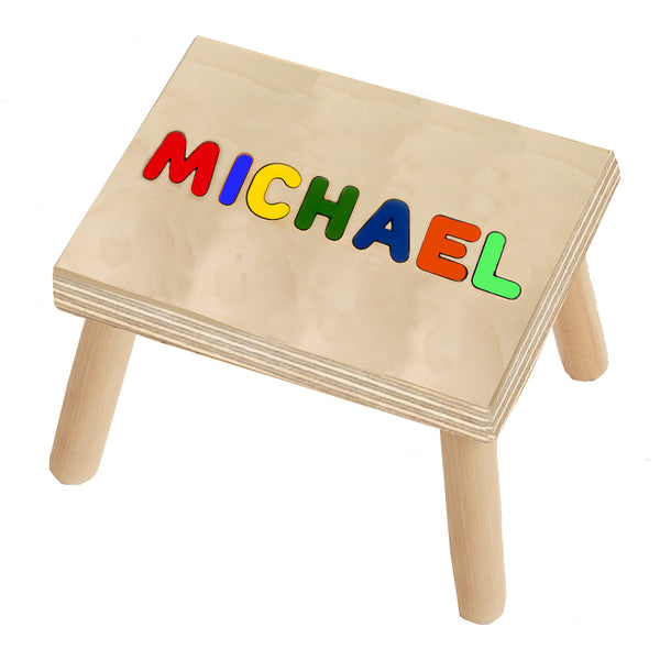 Wooden Handmade Custom Personalized Name Stool Puzzle - Choose up to 9 Letters No Extra Cost