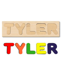 Wooden Name Puzzle Personalized Puzzle Choose Up to 12 Letters. Clipart Dinosaur Baby Theme