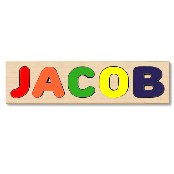 Wooden Personalized Name Puzzle - Any Name Or First & Last Name Choose up to 12 Letters No Extra Cost - JACOB