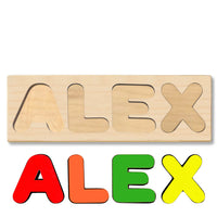 Wooden Personalized Name Puzzle - Any Name Or First & Last Name Choose up to 12 Letters No Extra Cost - ALEX