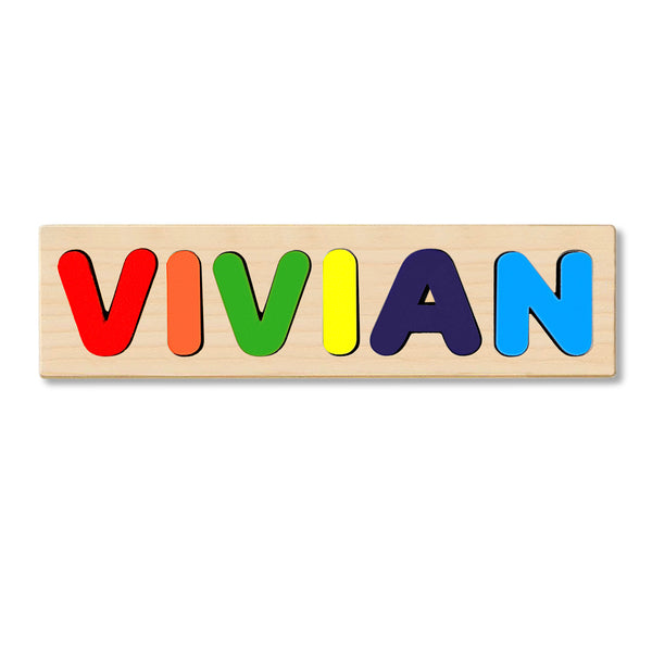 Wooden Personalized Name Puzzle - Any Name Or First & Last Name Choose up to 12 Letters No Extra Cost - VIVIAN