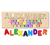 Name Puzzle With ABC Front Picture - Made In U.S.A