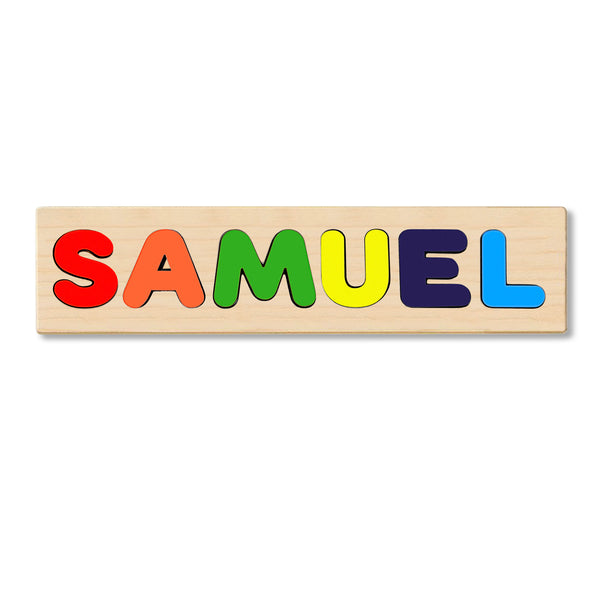 Wooden Personalized Name Puzzle - Any Name Or First & Last Name Choose up to 12 Letters No Extra Cost - SAMUEL