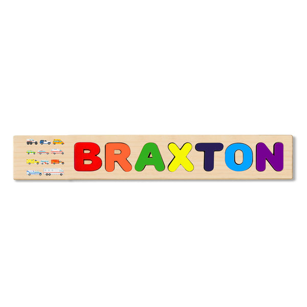 Wooden Name Puzzle Personalized Puzzle Choose Up to 12 Letters. Hospital Bus Theme
