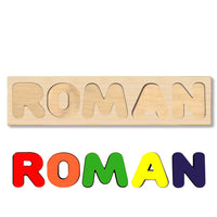 Wooden Name Puzzle Personalized Puzzle Choose Up to 12 Letters. Universe Solor System Theme