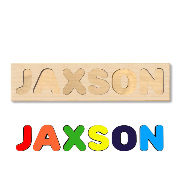 Wooden Name Puzzle Personalized Puzzle Choose Up to 12 Letters. Cute Cartoon Theme