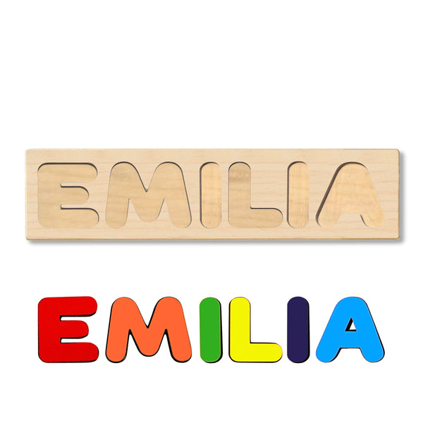 Wooden Name Puzzle Personalized Puzzle Choose Up to 12 Letters. Christmas Deer Theme