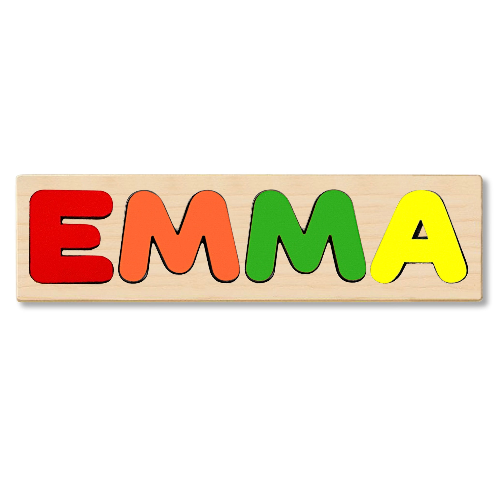 Wooden Personalized Name Puzzle - Any Name Or First & Last Name Choose up to 12 Letters No Extra Cost - EMMA