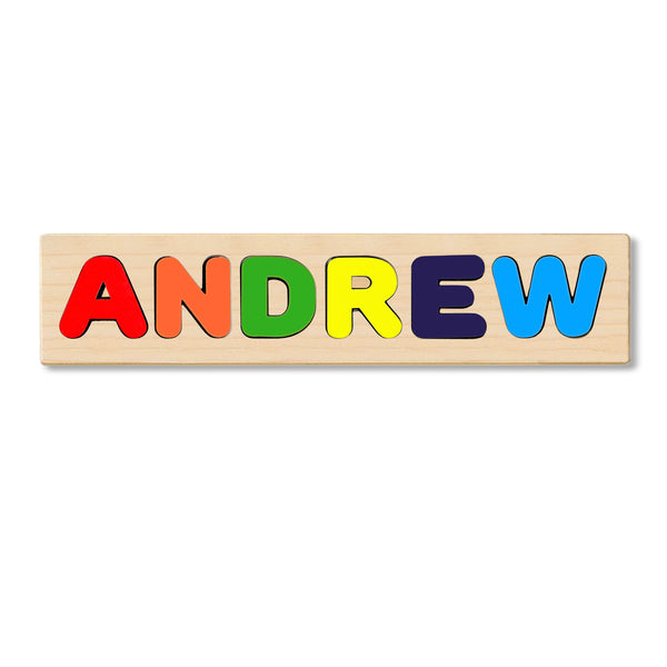 Wooden Personalized Name Puzzle - Any Name Or First & Last Name Choose up to 12 Letters No Extra Cost - ANDREW
