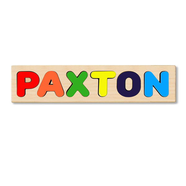 Wooden Personalized Name Puzzle - Any Name Or First & Last Name Choose up to 12 Letters No Extra Cost - PAXTON