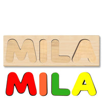 Wooden Name Puzzle Personalized Puzzle Choose Up to 12 Letters. Animal With Train Theme