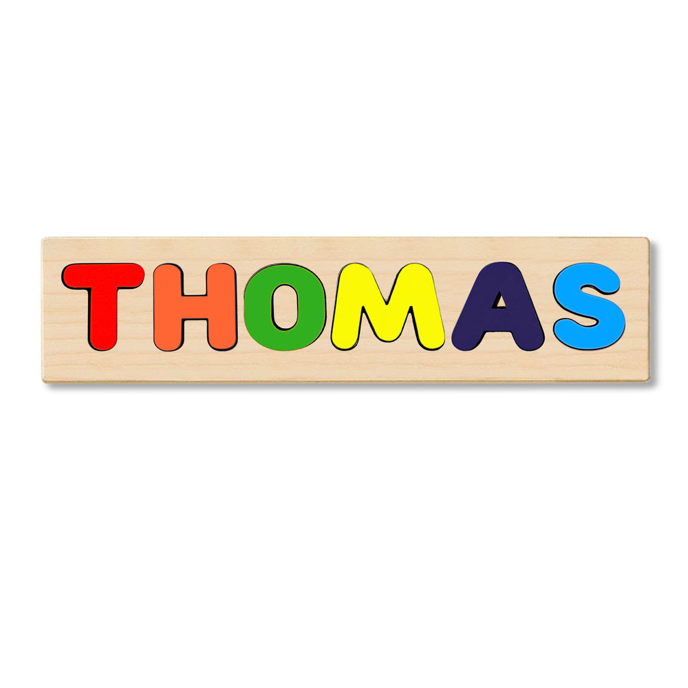 Wooden Personalized Name Puzzle - Any Name Or First & Last Name Choose up to 12 Letters No Extra Cost - THOMAS