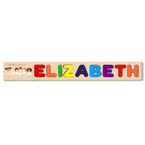 Wooden Name Puzzle Personalized Puzzle Choose Up to 12 Letters. Ballerina Backdrop Theme